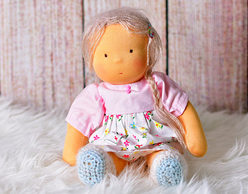 Fabric Doll Waldorf Blond