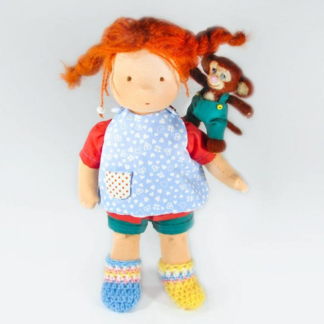 Pippi-Longstocking-Waldorf Doll-Mr-Nilsson