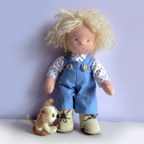 boy-doll-steiner-felted-puppy-blond-hair-waldorf