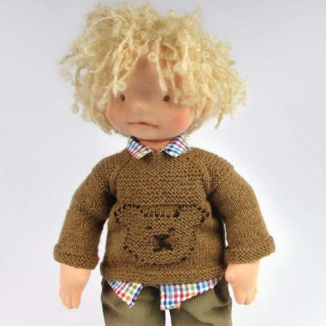 waldorf-doll-boy-sweater-bear