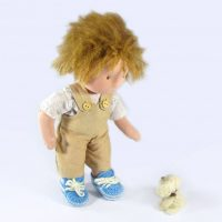 Cute Boy doll with poodle