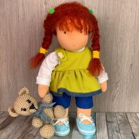 Cute Waldorf doll with red hair