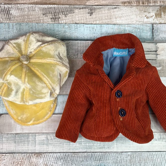 Doll clothes - yellow hat and jacket for Waldorf doll