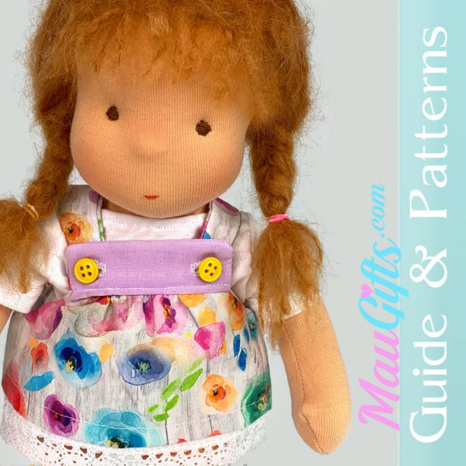 Doll dress with straps tutorial and patterns PDF