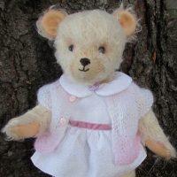 Cute teddy bear girl handmade