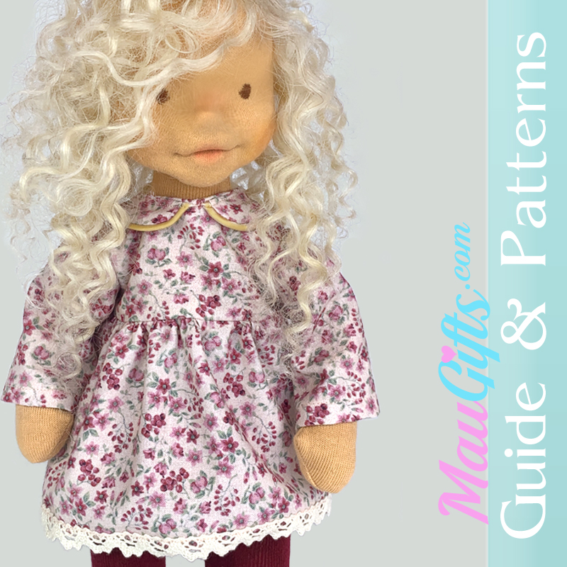 Cute doll dress sewing patterns in PDF and tutorial