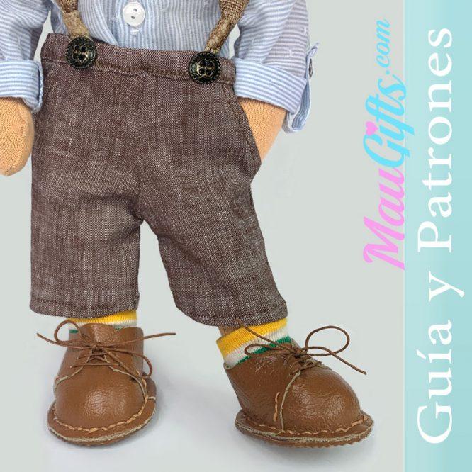 Pantalones con bolsillos para muñecas. Tutorial y patrones PDF