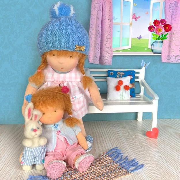 Кукли сестри със заек