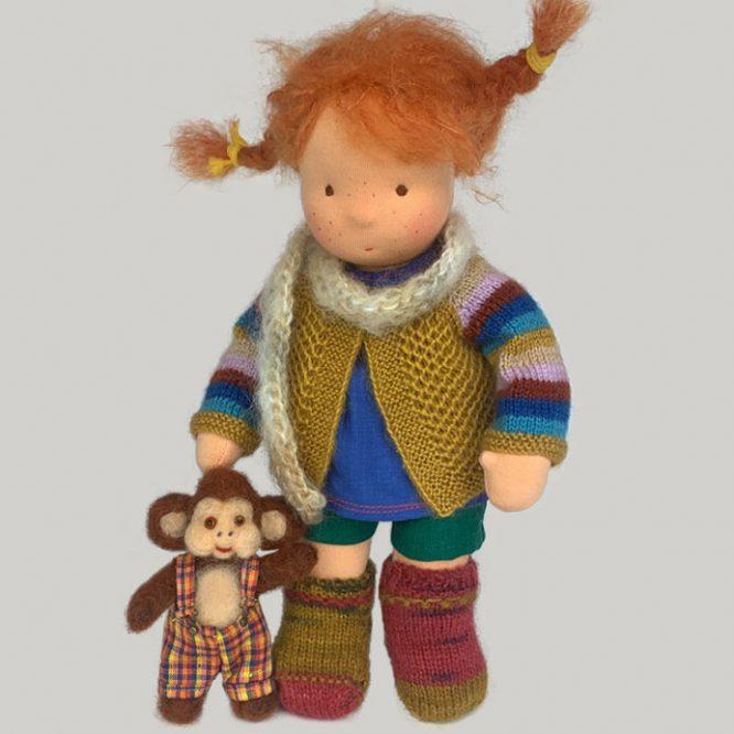 Pippi Longstocking Waldorf doll   Pippi Langstrumpf Waldorfpuppe