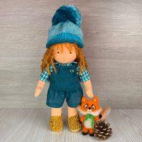 Горска валдорфска кукла с лисица от филц