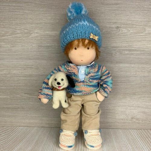 Валдорфска кукла момче с куче