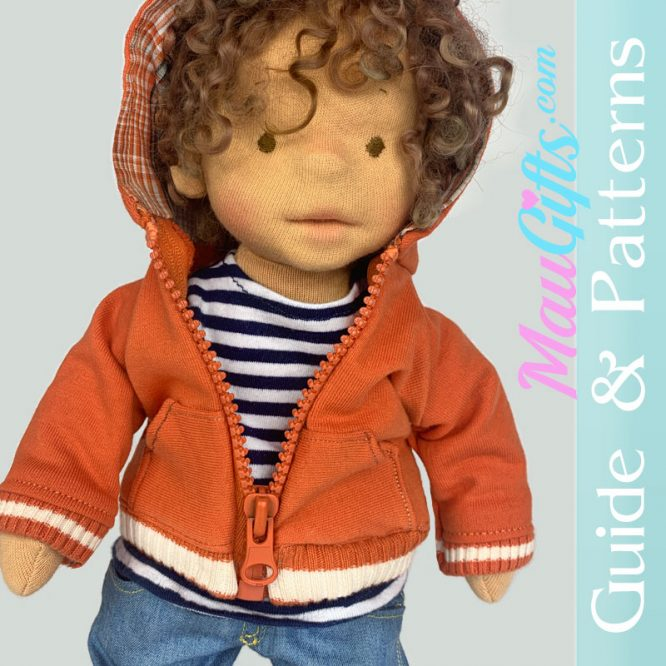 How to make Hoodie for doll - tutorial and patterns PDF