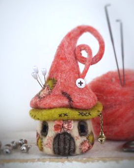felted house - felting needle