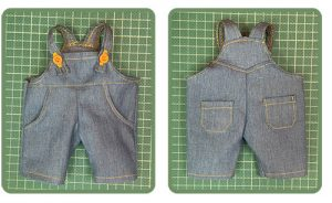 Doll clothes - Overalls for Waldorf doll